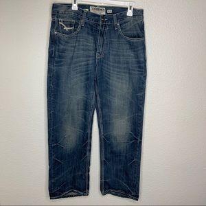 Ecko Unltd. Men's Relax Fit Faded Blue Jeans 34